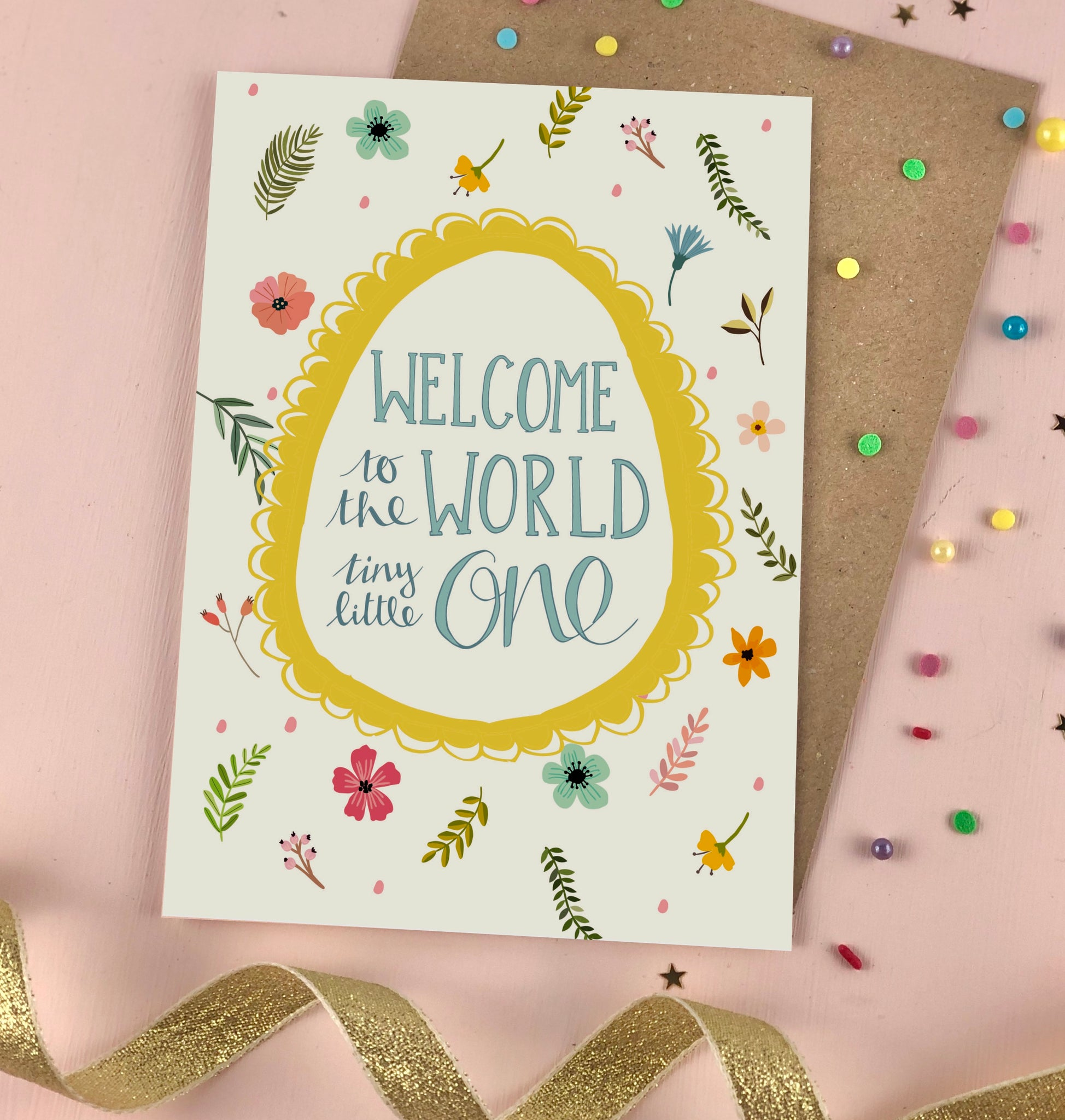 Welcome to the World Little One new baby card