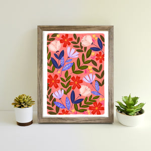 Wild Summer hand illustrated print
