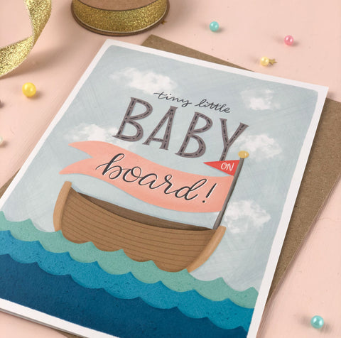 Baby on Board New Baby Card