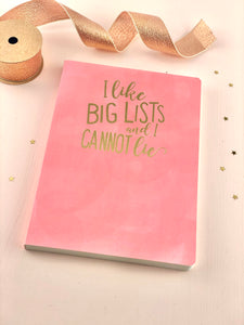 I Like Big Lists Notebook