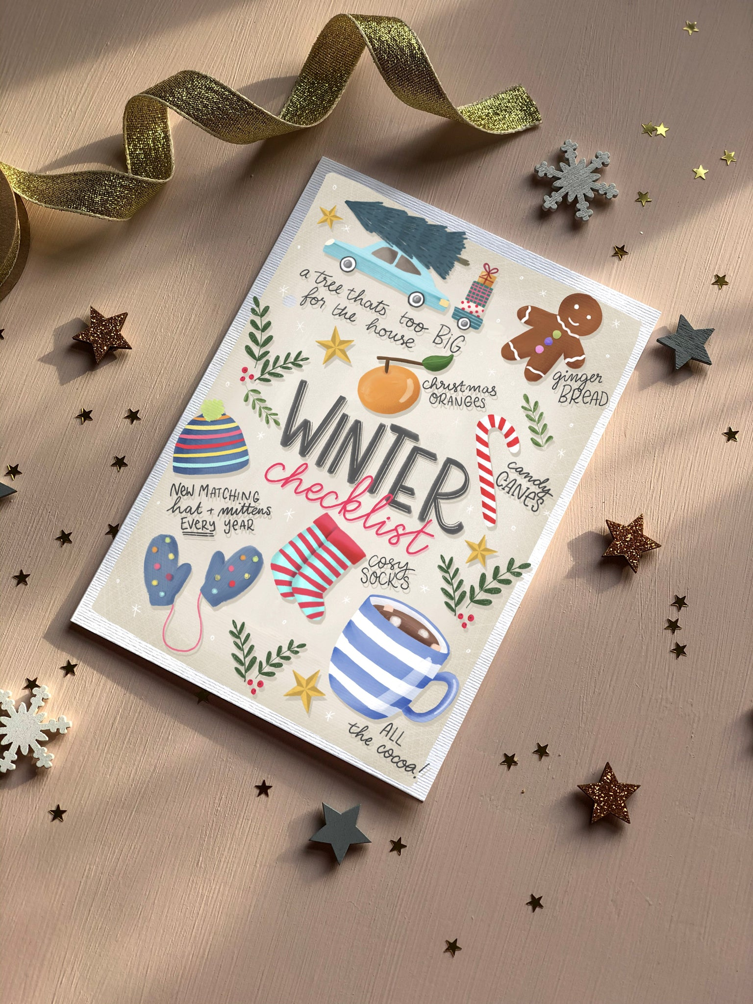Winter Checklist Christmas card