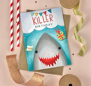 Killer Birthday Shark Birthday Card