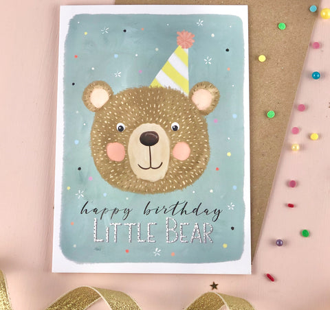 Happy Birthday Little Bear Birthday Card