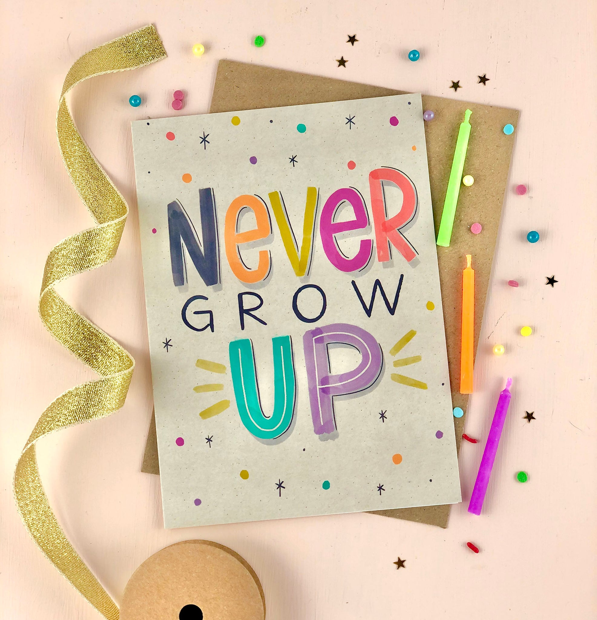 Never Grow Up Birthday Card