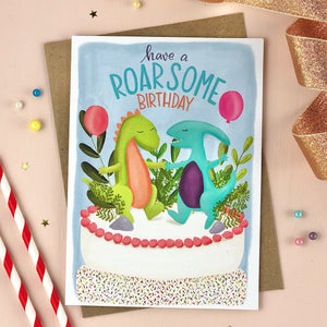 Have a Roarsome Birthday Dinosaur Card