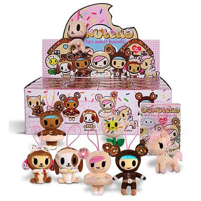 "OPEN BOX Tokidoki Donutella & Her Sweet Friends : 4"" Plush Biscottino mini figure (complete with all original packaging) - moosedinky"