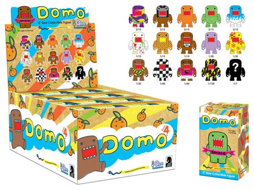 "OPEN BOX Toy2R Domo S4 Qee : 2"" Walkman mini figure 1/15 (complete with all original packaging) - moosedinky"
