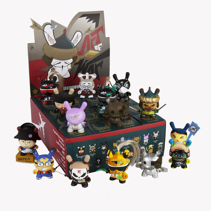 "OPEN BOX Kidrobot Sam Fout Art of War Dunny : 3"" Capo mini figure 2/20 (complete with all original packaging) - dinkybox"