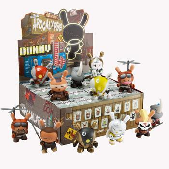 "OPEN BOX Kidrobot Huck Gee Post Apocalypse Dunny : 3"" Black Xam Dam Hicks mini figure 1/16 (complete with all original packaging) - moosedinky"