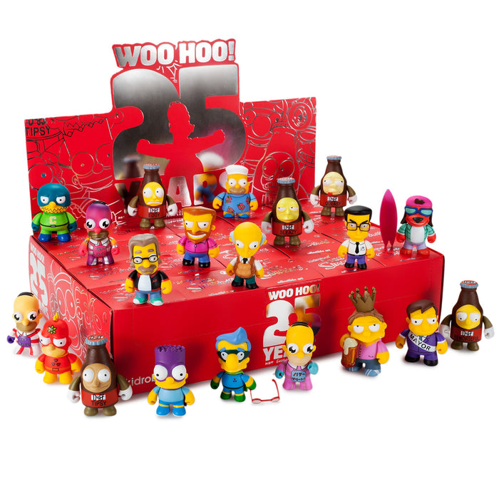 "OPEN BOX Kidrobot The Simpsons Woo Hoo! 25th Anniversary : 3"" Fat Hat Homer mini figure 3/40 (complete with all original packaging) - moosedinky"