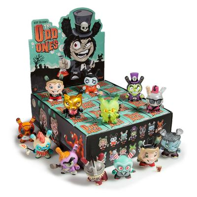 "OPEN BOX Kidrobot Scott Tolleson The Odd Ones Dunny : 3"" Professor Heckle CHASE mini figure 3/80 (complete with all original packaging) + FREE POSTAGE - moosedinky"