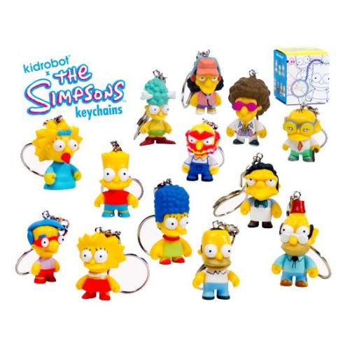 "BLIND BOX : Kidrobot The Simpsons S1  1"" Collectable Keychain - Just who will arrive at your UK home? 15yrs+ - moosedinky"
