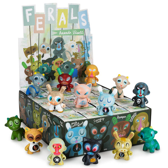 BLIND BOX : Kidrobot Amanda Visell Ferals Collectable Mini Figure - Just who will arrive at your UK home? 15yrs+ - moosedinky