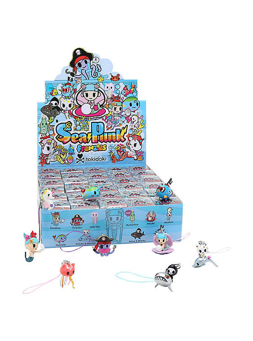 "OPEN BOX Tokidoki Sea Punk Frenzies : 1"" Narwally zipper-pull / charm (complete with all original packaging) - moosedinky"