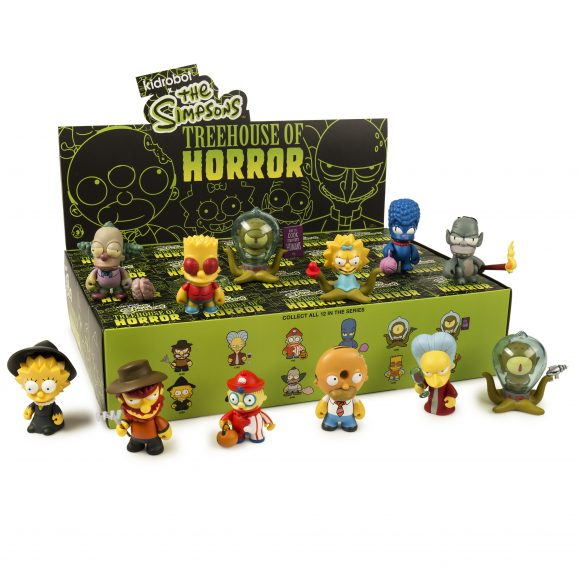 "OPEN BOX Kidrobot The Simpsons Treehouse of Horror : 3"" Donut Homer mini figure 2/20 (complete with all original packaging) - moosedinky"