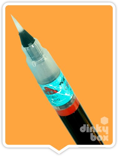 Pentel Brush Pen : Produce beautiful fluid lines with this nylon, brush like, fine tipped pen. Refilable. Comes pre-loaded with black in cartridge - moosedinky