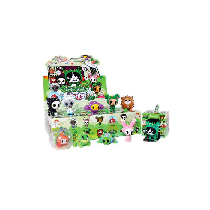 "OPEN BOX Tokidoki Cactus Pets S1 : 3"" Luna Cat (complete with all original packaging) - moosedinky"