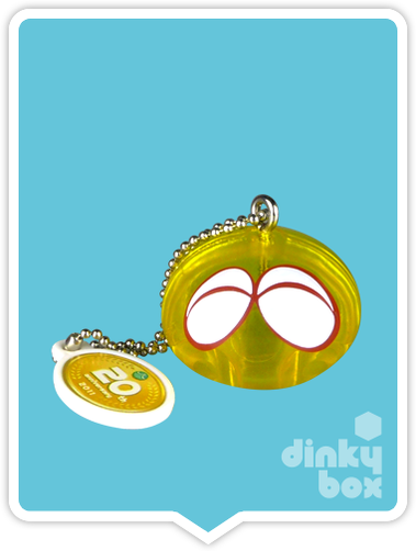 "OPEN GASHAPON BALL Takara Tomy A.R.T.S / Sega 20th Anniversary Puyo Puyo : 1"" Single Yellow Puyo Mascot Charm - moosedinky"