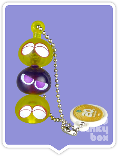 "OPEN GASHAPON BALL Tomy A.R.T.S / Sega Puyo Puyo : 1"" Trio (Yellow/Purple) Mascot Charm - moosedinky"