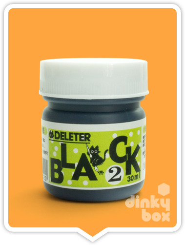 Deleter black ink no.2, suitable for the professional artist and the beginner. Japanese professional quality ink.