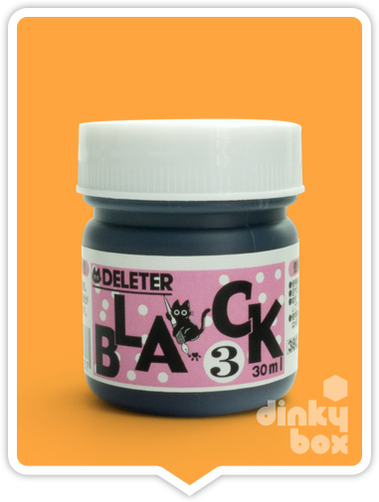 Deleter black ink no.3, suitable for the professional artist and the beginner. Japanese professional quality ink.