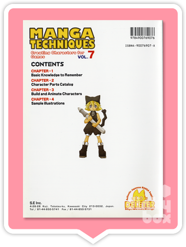 Deleter Manga Techniques How To Guide Book : Vol.07 (English text) Creating Characters for Games (beginners) - moosedinky