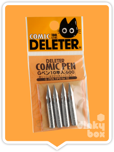 Deleter COMIC G-Pen : Super popular nibs - Ideal for drawing general (Shonen) artwork (Pack of 10 Nibs) - moosedinky