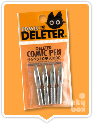 Deleter COMIC Saji : Easy to use nibs - Ideal for creating a constant line thickness (Pack of 10 Nibs) - moosedinky