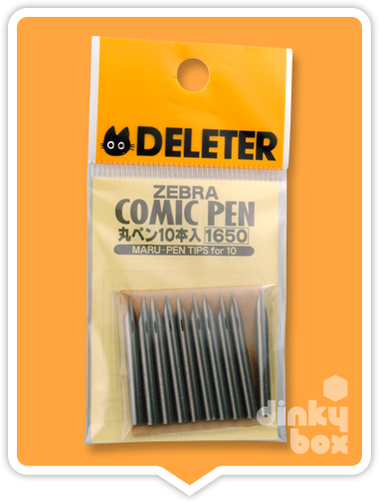 Deleter ZEBRA Maru : Flexiable nibs - Ideal for technical (Shojo) artwork and for drawing hair (Pack of 10) - moosedinky