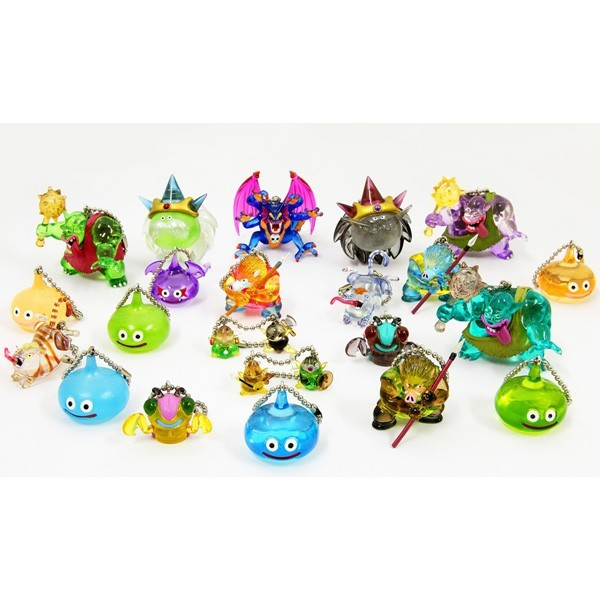 "OPEN BOX Square-Enix Dragon Quest Crystral Monsters 10 : 1"" Puchihiro & Puchimajir + Slime Mascot Charm (complete with all original packaging) - moosedinky"