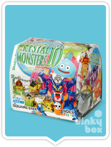 "OPEN BOX Square-Enix Dragon Quest Crystral Monsters 10 : 1"" Puchifaita & Puchipurisuto + Slime Mascot Charm (complete with all original packaging) - moosedinky"