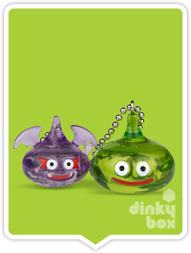 "OPEN BOX Square-Enix Dragon Quest Crystral Monsters 10 : 1"" Slime & Dakusuraimu Mascot Charm 03 (complete with all original packaging) - moosedinky"