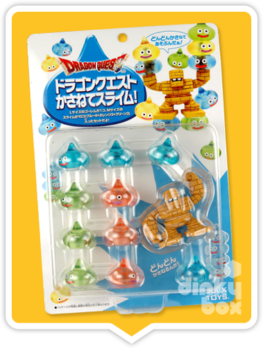 "CARDED Square-Enix Dragon Quest Stacking Slime : 1"" Special Golem Mascot Charm Set + FREE POSTAGE - moosedinky"
