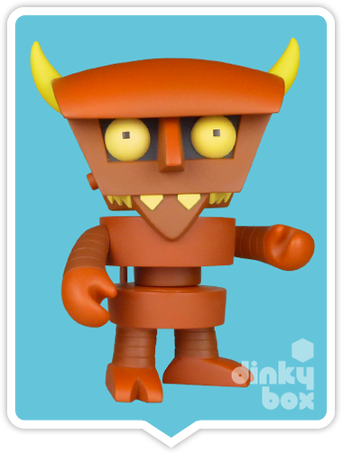 "BOXED Kidrobot Futurama : LARGE 6"" Devil Robot collectable and impressive vinyl figure (complete with all original packaging) + FREE POSTAGE - moosedinky"