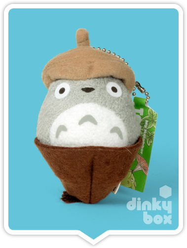 "LOOSE PLUSH Sun Arrow x Studio Ghibli : 4"" Studio Ghibli My Neighbour Totoro, mini Totoro in an acorn mini figure charm/keychain - moosedinky"