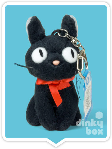 "LOOSE PLUSH Sun Arrow x Studio Ghibli : Large 3"" Studio Ghibli Kiki's Delivery Service JiJi, very cute mini figure keychain - moosedinky"