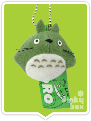 "LOOSE PLUSH Sun Arrow x Studio Ghibli : 2"" Studio Ghibli My Neighbour Totoro, mini Green Totoro figure charm/keychain - moosedinky"