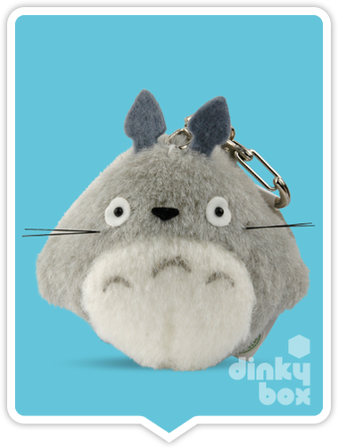 "LOOSE PLUSH Sun Arrow x Studio Ghibli : Large 3"" Studio Ghibli My Neighbour Totoro, very cute Totoro mini figure keychain - moosedinky"