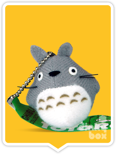 "LOOSE PLUSH Sun Arrow x Studio Ghibli : 2"" Studio Ghibli My Neighbour Totoro, mini Grey Totoro figure charm/keychain - moosedinky"