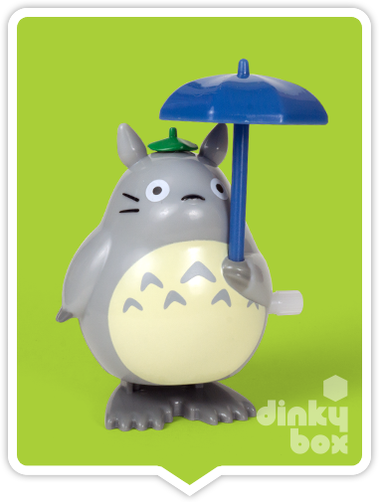 "BLISTER CARDED Sun Arrow x Studio Ghibli : 4"" Jumping Totoro white knob wind-up (wkw) mechanical figure (Japanese packaging with Japanese text) + FREE POSTAGE - moosedinky"