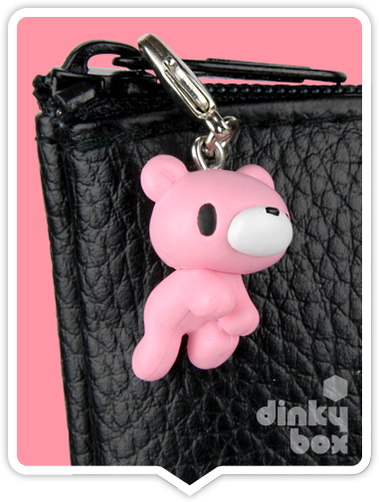 "OPEN BOX Kidrobot Gloomy Bear : 1"" Baby Pink Gloomy zipper pull 2/30 (complete with all original packaging) - moosedinky"