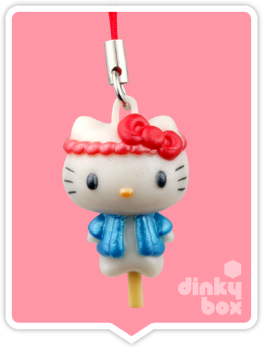 "OPEN PACKAGE Re-ment Hello Kitty Collectable Festival Charms : 1"" Cute Costume Charm (complete with all original packaging minus the candy) 15yrs+ - moosedinky"