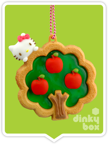 "OPEN BOX Re-ment Hello Kitty Collectable Cookie Mascot : 2"" Apple Tree Charm (complete with all original packaging minus the candy) 15yrs+ - moosedinky"