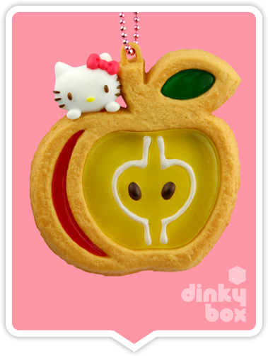 "OPEN BOX Re-ment Hello Kitty Collectable Cookie Mascot : 2"" Apple Charm (complete with all original packaging minus the candy) 15yrs+ - moosedinky"
