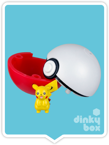 "OPEN BOX HPKM Collectors Japanese Pokémon Keshipoke : 1"" Pikachu Eraser Ball & Very Mini Collectable Figure 15yrs+ - moosedinky"