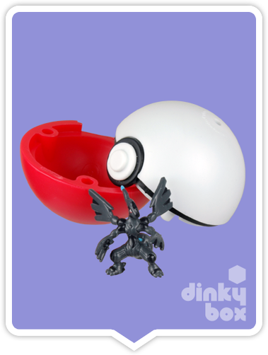 "OPEN BOX HPKM Collectors Japanese Pokémon Keshipoke : 1"" Zekrom Eraser Ball & Very Mini Collectable Figure 15yrs+ - moosedinky"