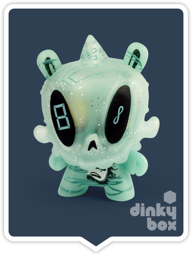 "OPEN BOX Kidrobot Brad Peters Dunny GID The 13 : 3"" (08) The Ancient One mini figure 1/20 (complete with all original packaging) - dinkybox"