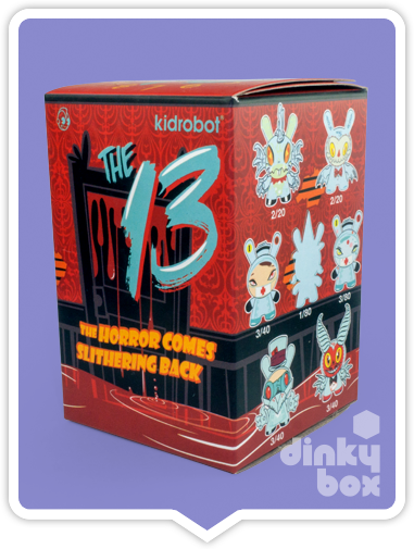 BLIND BOX : Kidrobot Brad Peters Dunny GID The 13 Collectable Mini Figure - Just who will arrive at your UK home? 15yrs+ - moosedinky