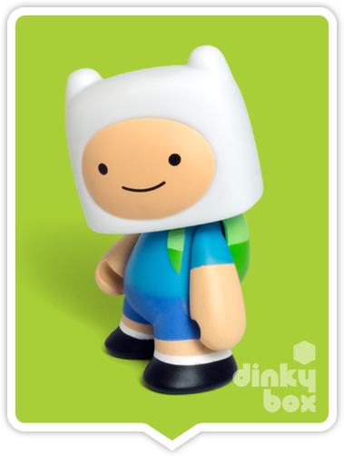 Kidrobot Adventure Time, blind boxed and open choice mini figures available to purchase in the UK. Here we have the adorable FINN character ready to post from our hands to your UK home – comes complete with all original packaging.