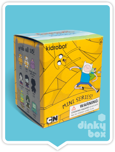 Kidrobot Adventure Time mini figures, available to buy in the UK, via your friendly dinkybox store.